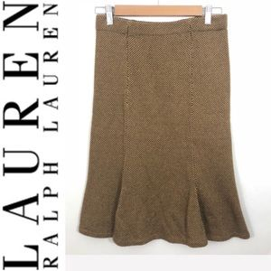 Lauren Ralph Lauren Brown/Tan Skirt Size XS